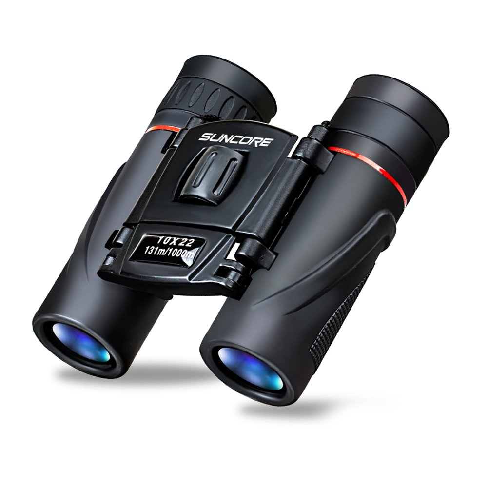 折りたたみ式ポケット双眼鏡10 x 22 HDミニ望遠鏡コンパクトデザインクリア光学レンズ B074Z6ZF9F  10 x 22 Black