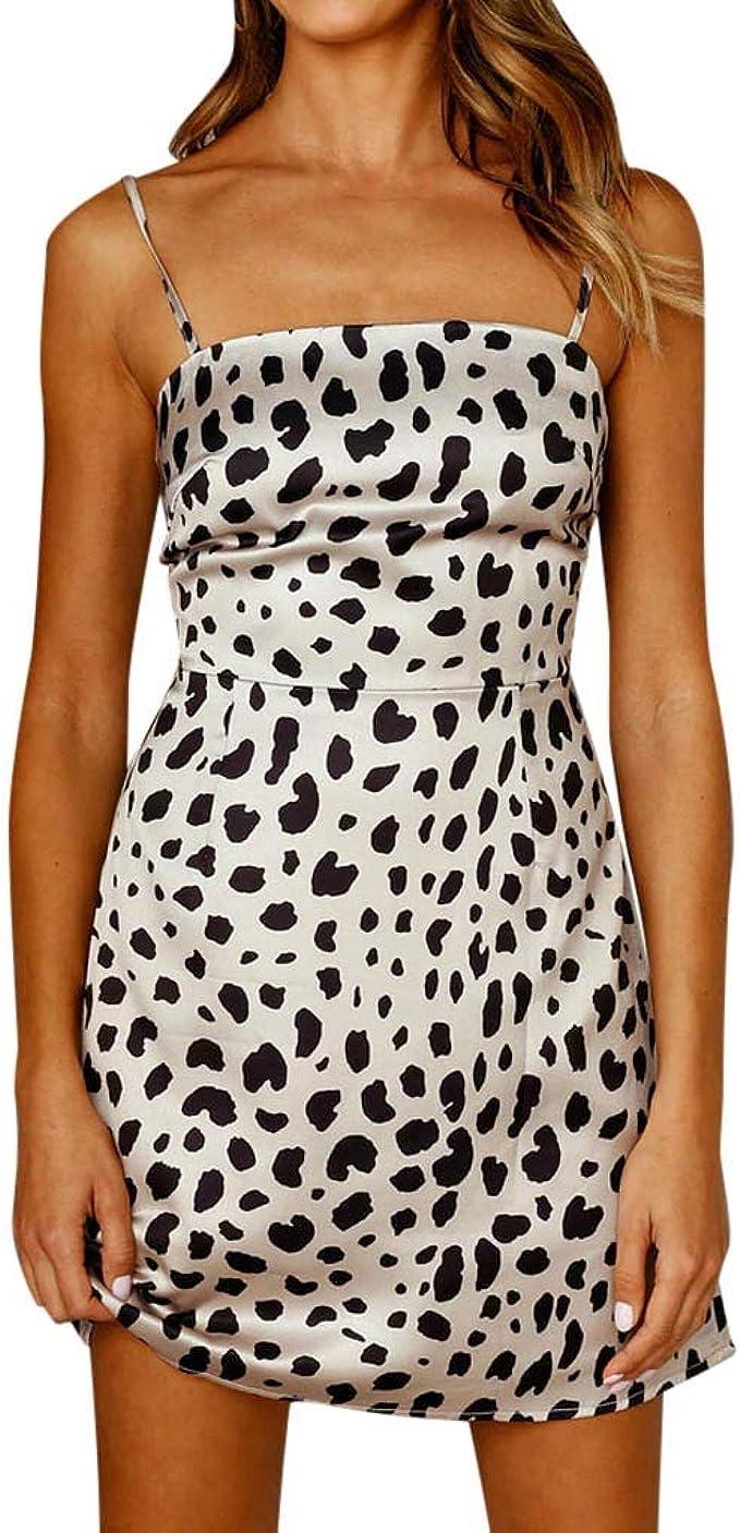 Oksea Eng anliegendes Kleid Kleid mit Leopardenmuster Damen Kleid