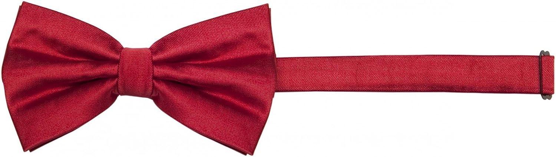 festlichen rot Fabio Farini vorgebundene Herren Fliege in einem schlichten 12 x 7 cm