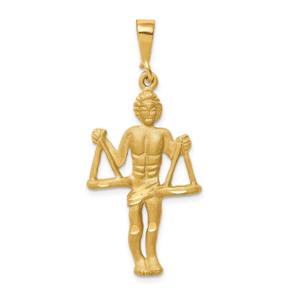14k Yellow Gold Libra Zodiac Charm