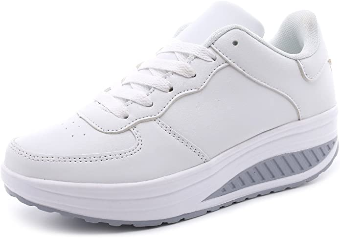 Femme Baskets Compensées Chaussures de Running sur Route