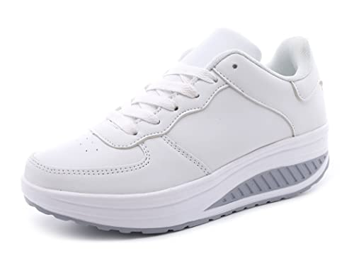 Mujer Zapatillas de cuña Sneakers Running Casuales Transpirable Aire Libre Deporte Zapatos: Amazon.es: Zapatos y complementos
