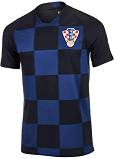 3e58dff46 Croatia Modric  10 Soccer Jersey Youth World Cup Home Short Sleeve ...