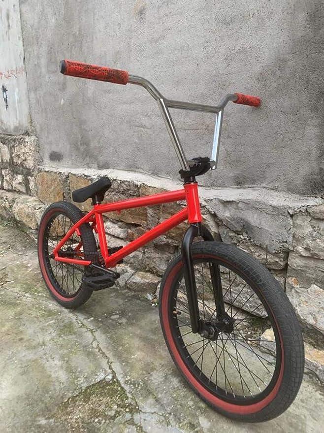 SWORDlimit Bicicleta Freestyle BMX de 20 Pulgadas para Principiantes y avanzados, Cuadro Crmo Completo, Acero al Cromo molibdeno, manivela de 8 Llaves, Rueda Dentada 25T, Eje de Tarjeta 9T: Amazon.es: Deportes y