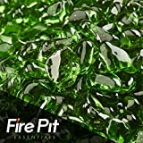 Pine Mountain Green Eco Fire Glass Dots Firepit Glass 10 Pounds...