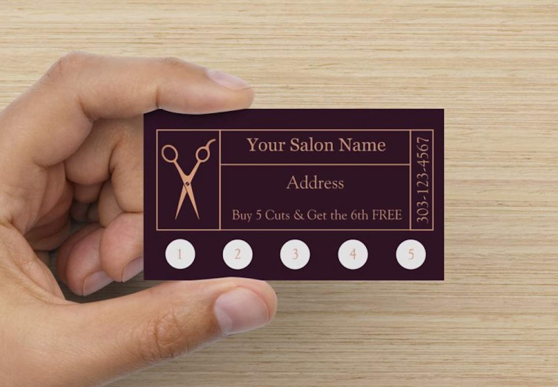 Customize YOUR COMPANY Hair Salon Loyalty Punch Business Cards Personalized with your business info (5000)