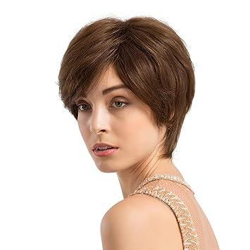 2781b451b6772b Arouhong レディース ウィッグ ボブ ファッション ショート かつら サイズ調節 空気感の前髪 自然 高品質