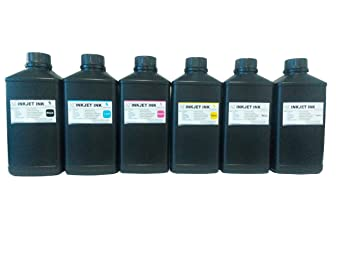 6x1000ml ND Brand Premium Led UV Curable Ink for Epson