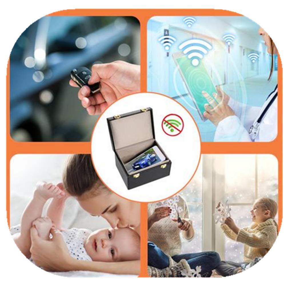 DaJun Key Fob Protector Box Signal Blocker Box for Car Keys Fob Phones Cards, Signal Blocking Bag Shielding Pouch Wallet Case for Cell Phone Privacy by DaJun