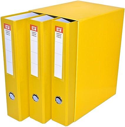 MP PC171-06 - Pack de 3 archivadores, color amarillo: Amazon.es ...