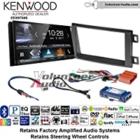 Volunteer Audio Kenwood DDX9704S Double Din Radio Install Kit with Apple Carplay Android Auto Fits 2014-2016 Mazda CX-5