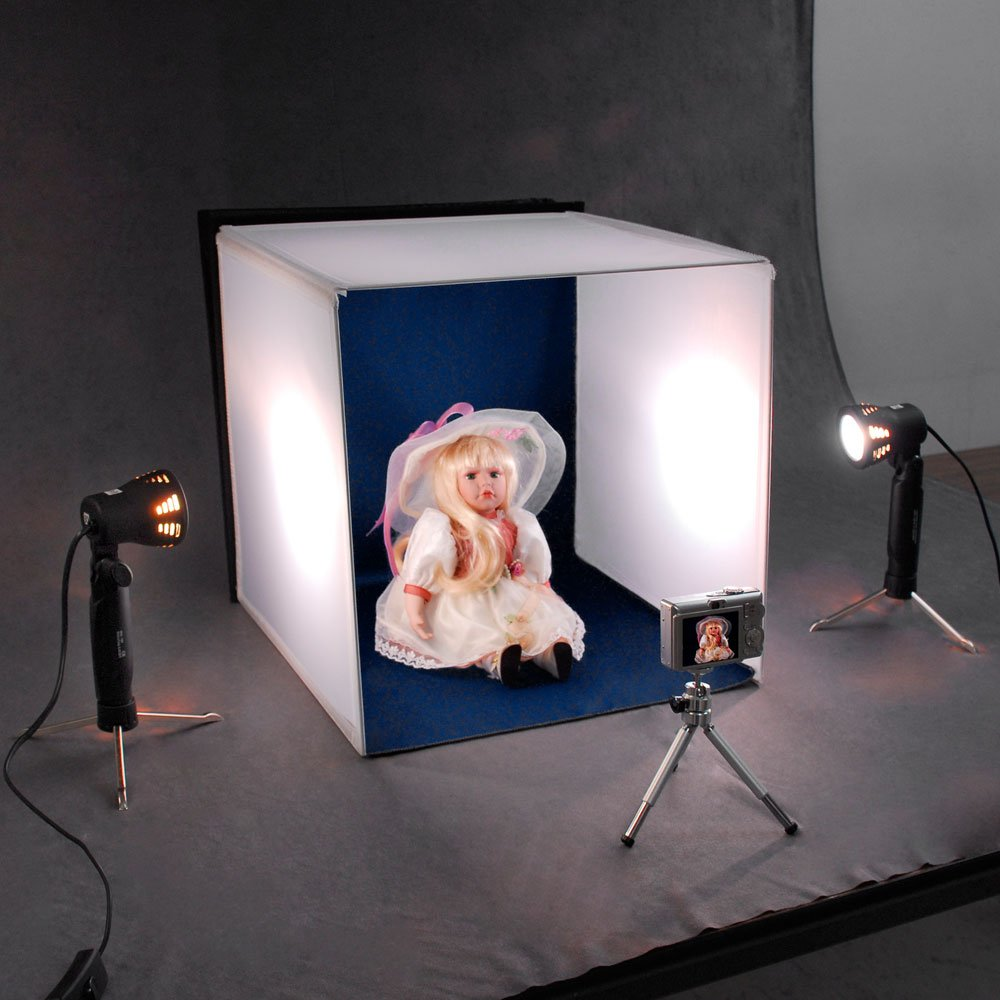 amazon com electric avenue 82 55614 deluxe table top photo studio