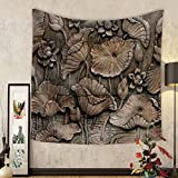 Niasjnfu Chen Custom tapestry Low Relief Cement Thai Style Handcraft of Buddhism - Fabric Wall Tapestry Home Decor