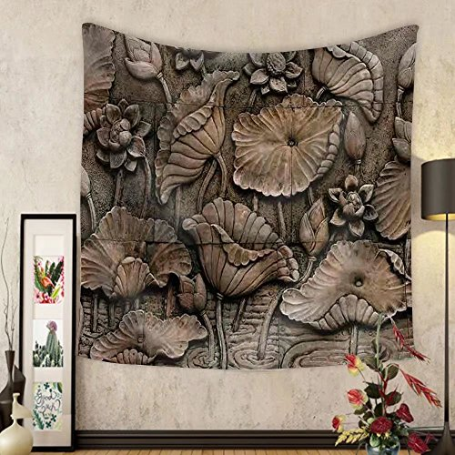 Niasjnfu Chen Custom tapestry Low Relief Cement Thai Style Handcraft of Buddhism - Fabric Wall Tapestry Home Decor by Niasjnfu Chen