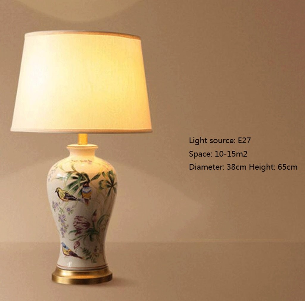 YYF YYF YYF Tischleuchte American Modern Minimalistischen Keramik Tischlampe Europäischen Warm Home Wohnzimmer Kreative Studie Schlafzimmer Nachttischlampen (Farbe   E) B07BW8N57M | Kaufen Sie beruhigt und glücklich spielen  012b9f