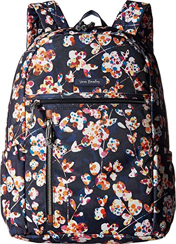 Vera Bradley Lighten Up Study Hall Backpack, Polyester, Cut Vines, cut vines, One Size