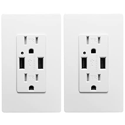Outlet With Usb High Speed Charger 4 2a Charging Capability Child