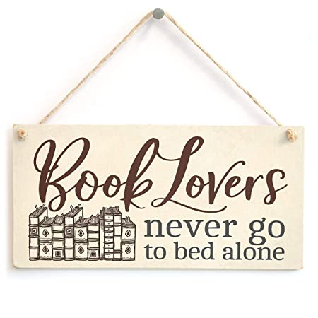Mr.sign Book Lovers: Never Go to Bed Alone Cartel de Pared ...