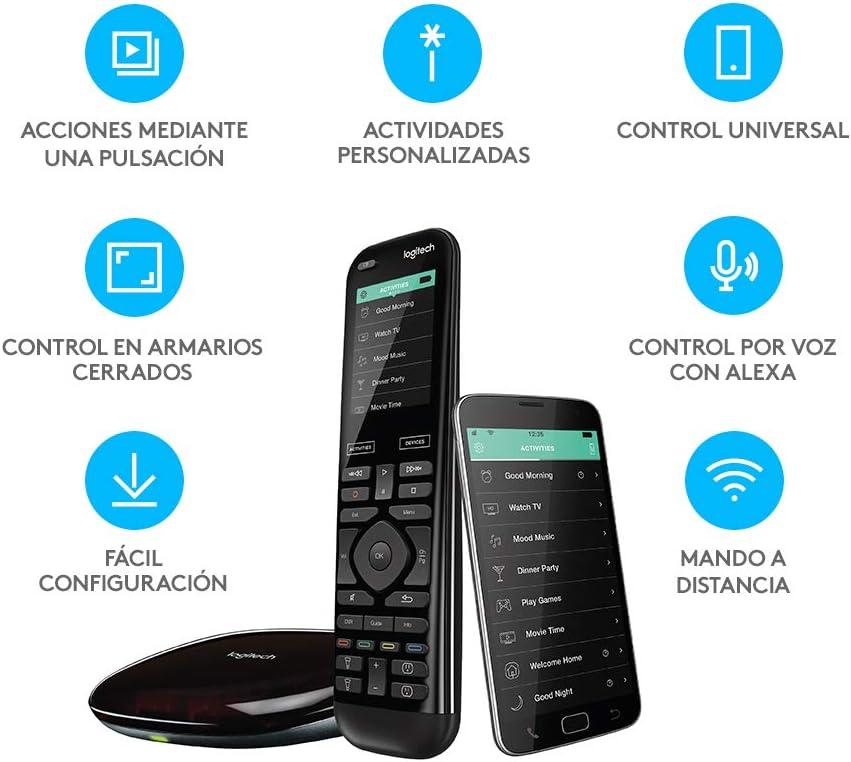 Logitech Harmony Elite Control Remoto a Distancia Universal, SKY, Apple TV, Roku, Sonos y Smart Home, Fácil Configuración, App y Hub, LG/Samsung/Sony/Hisense/Xbox/PS4, Negro: Amazon.es: Electrónica