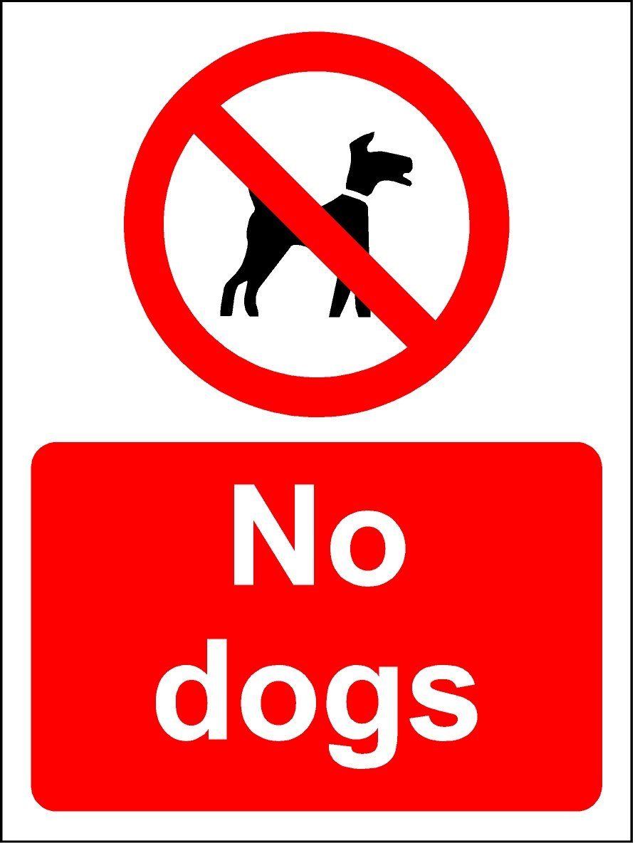 200mmx150mm No Dogs (1.2mm Plastic Sign) KPCM Display