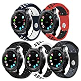 Gear S3 Band, Surace Soft Silicone Strap 22mm Quick-Release Pin Replacement for Samsung Gear S3 Frontier/Galaxy Watch (46mm) / S3 Classic Smart Watch- (5pack)