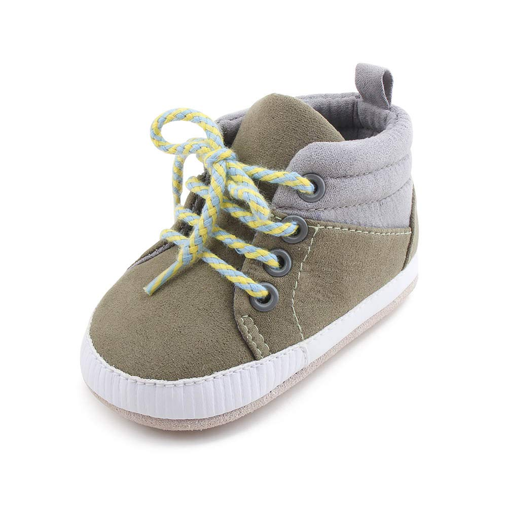 Delebao Baby Boys Girls First Walkers Lace Up Running Shoes