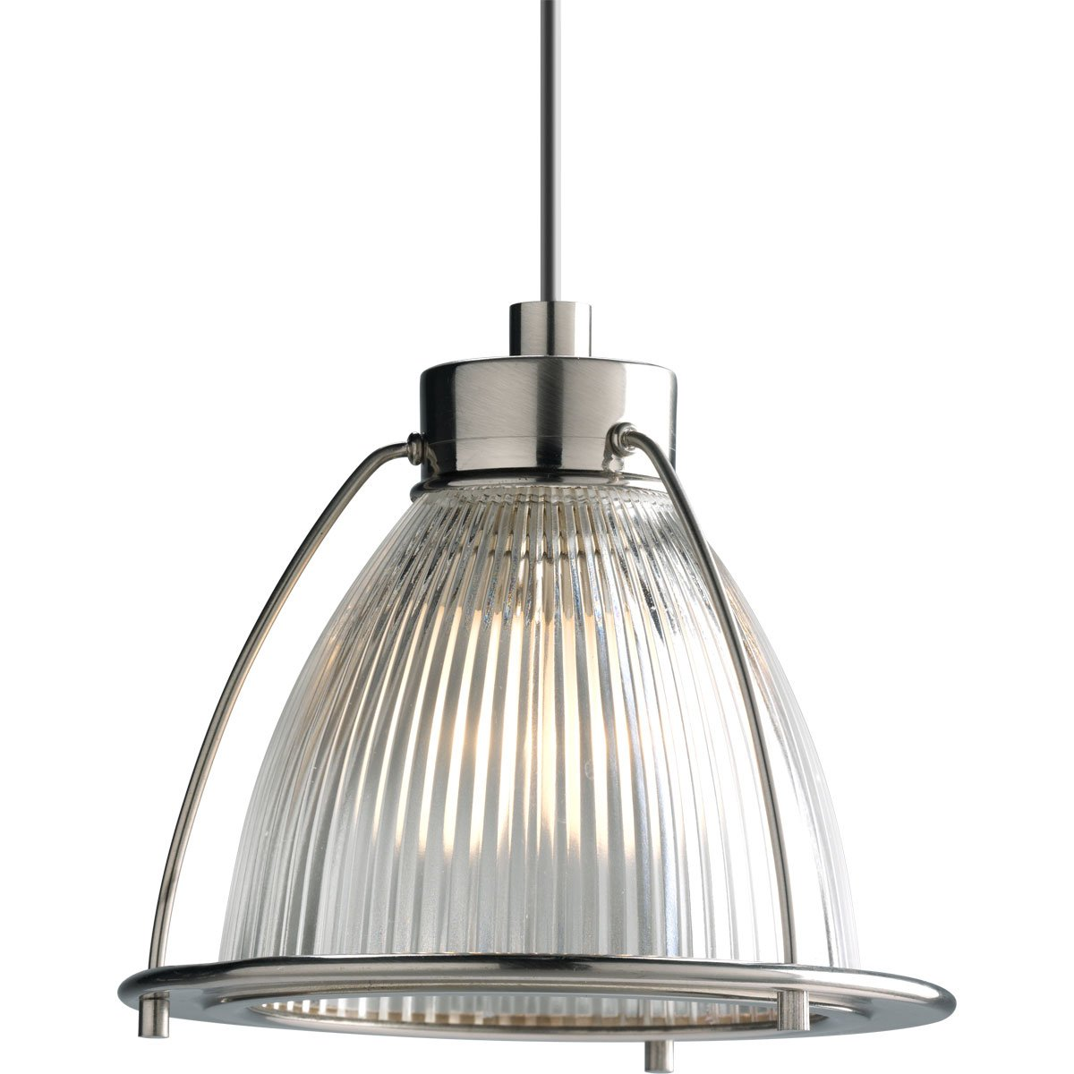 Progress Lighting P6182-09CL 12 Volt Low Voltage Mini-Pendant with Clear Glass, Brushed Nickel