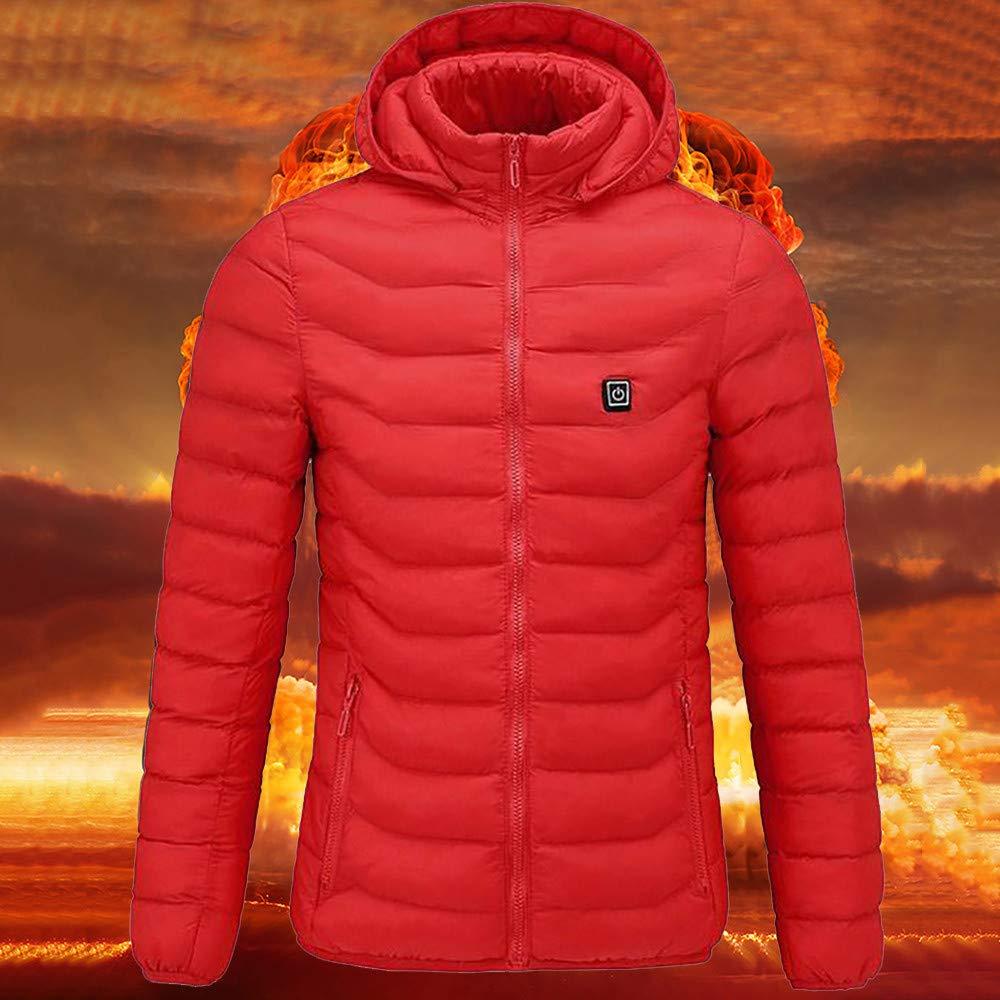 QHJ Leichte Isolierte Beheizte Weste USB,für Körperwärmer in kalten Winter Outdoor-Aktivitäten Camping Skifahren für Damen Herren