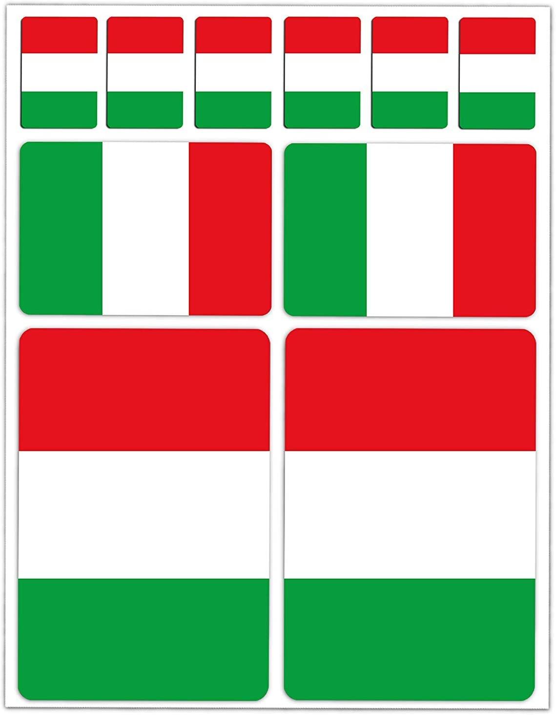 Set of 10 x Vinyl Stickers Set Decals Italy National Italian Flag Car Motorcycle Helmet D 14
