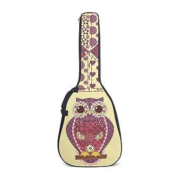 COOSUN Búho Patchwork patrón impresión acústica guitarra ...