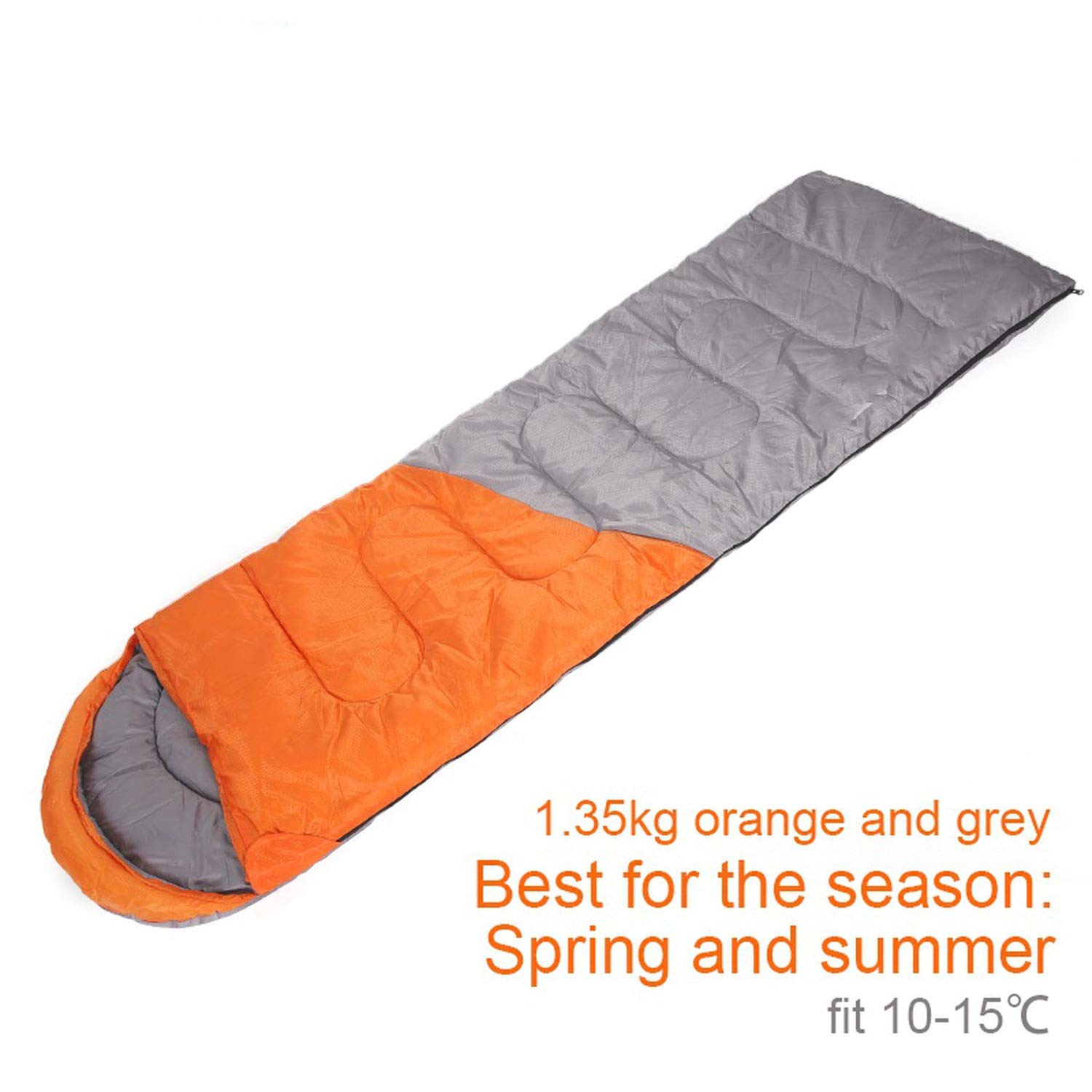 1.35kgRIGHT zipper O Size Warm Splicing Sleeping Bag Outdoor Sport Waterproof Sleeping Bag Comfortable Heated Lazy Bag Adult Winter Camping