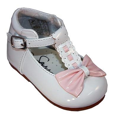 67f405e32 Sevva Girls Shoes Emily Smart Shoes Baby Toddler Spanish Style Rollybaby (4  UK Child,