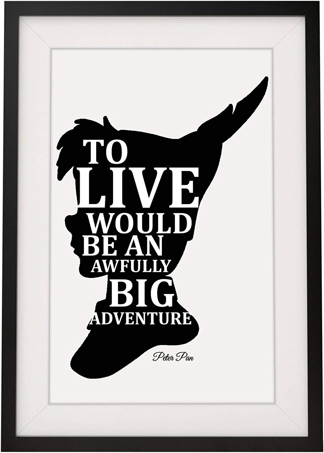 Peter Pan inspired quote wall art disney gift home decor poster print