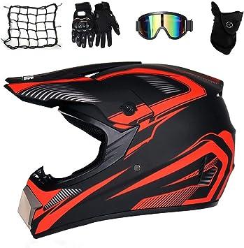 Motorcycle Motorbike Full Face Helmet Removable Inner