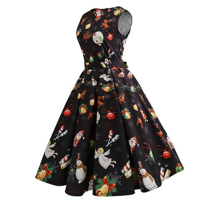 Felicove Damen Kleid,Winter Plisseerock Baumwolle Damen Kleider Fest  Ballkleider Warme Minikleid Weihnachten Langer Rock b363b43495
