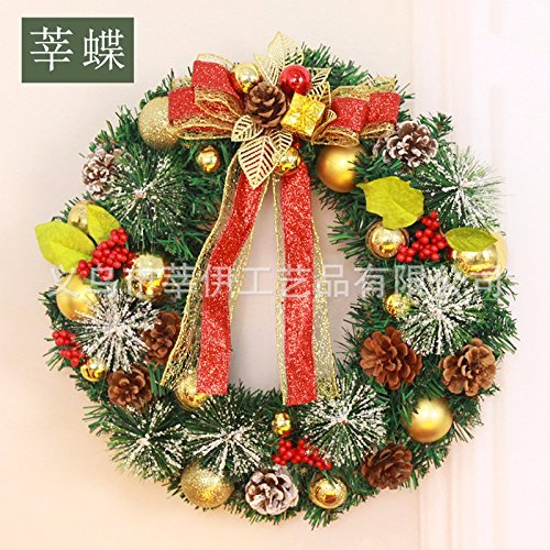 Christmas Garland for Stairs fireplaces Christmas Garland Decoration Xmas Festive Wreath Garland with Christmas Wreath,40cm by Caribou Furniture And Decor