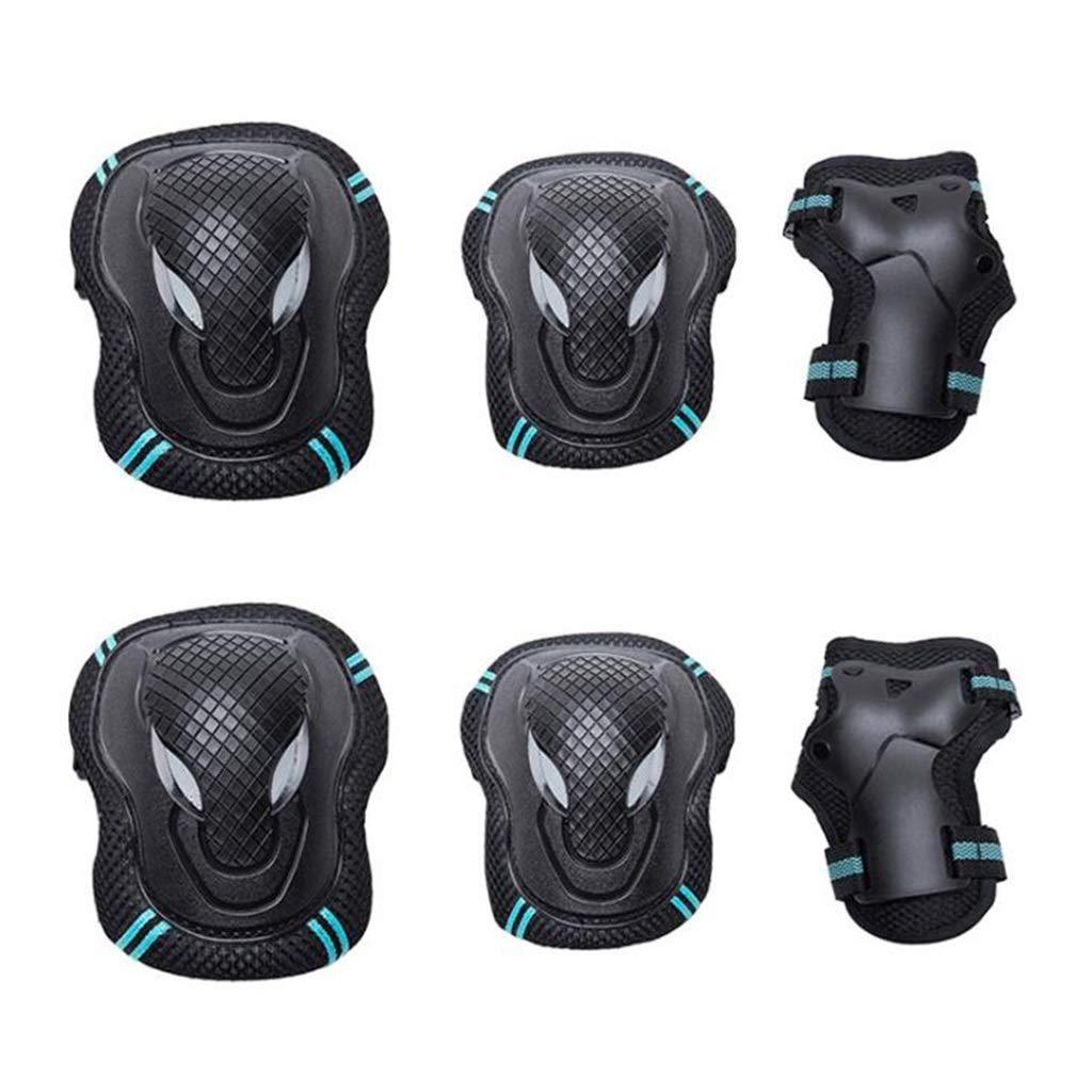Sportschutzausrüstung-Set, Verstellbare Knie- Und Ellbogenschützer Mit Handgelenkschutz Für Multi-Sport-Outdoor-Aktivitäten (6 Stück)