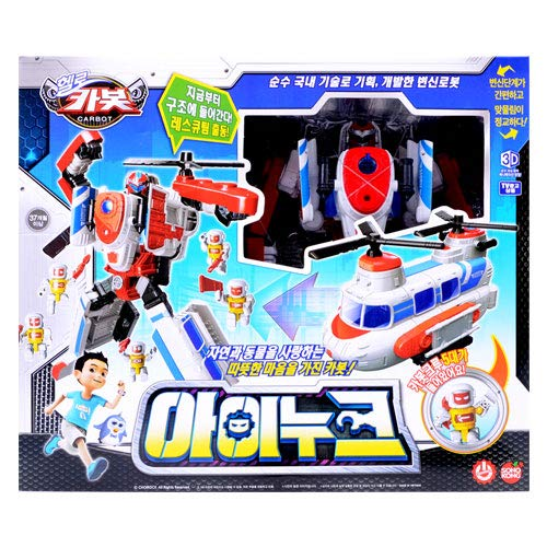 K-Crew Hello CARBOT Rescue Helicopter Team Helicopter Rescue INOOK Transforming Robot Toys 677208