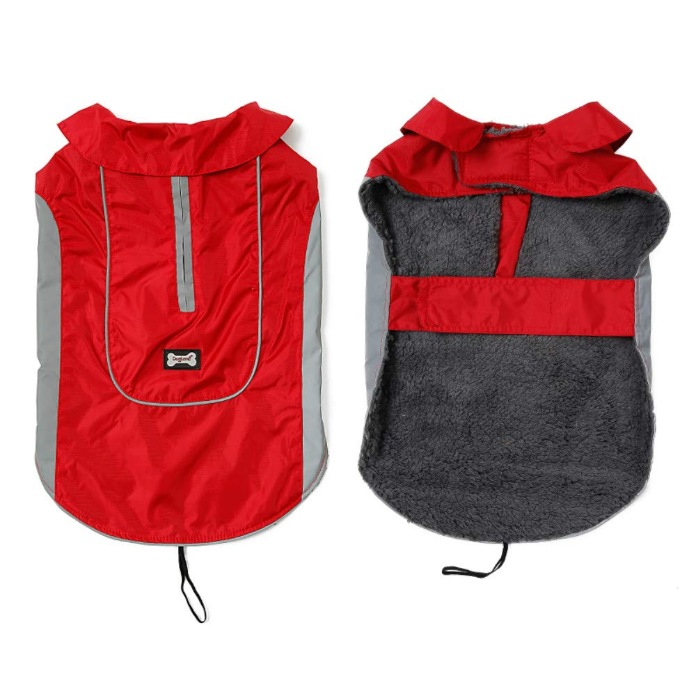 Red M Chest 18.1\ Red M Chest 18.1\ DENTRUN Dog Vest Coat Winter Cold Weather Jacket Sweater,Pet Cats Jeans Cool Denim