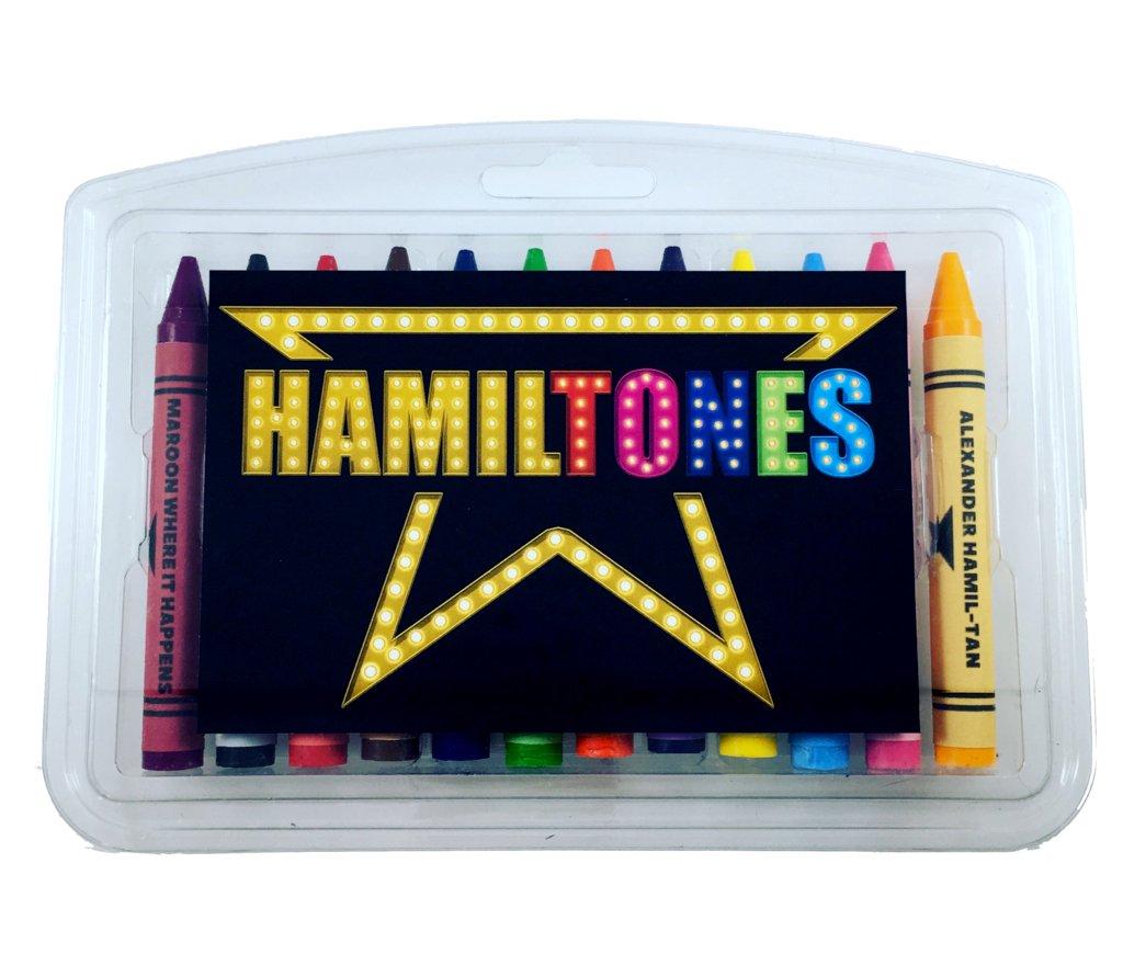 Hamiltones Crayon Set - 12 Hamilton Musical Themed Colors