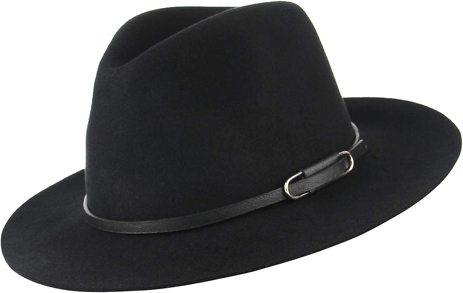 Wool Felt Fedora Hats for Men Women Unisex Classic Topper Wool Satin Lined Men/'s Top Hat Trilby Jazz Cap