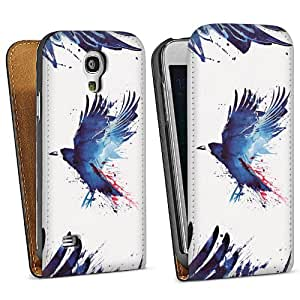 Diseño para Samsung Galaxy S4 Mini I9195 DesignTasche Downflip black - Bloody crow
