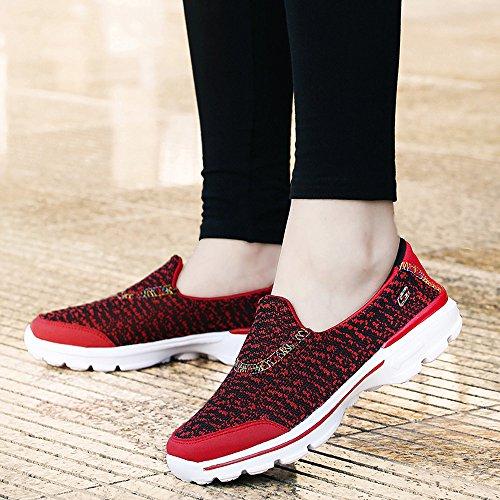 Scarpe Da Passeggio Quotidiane Da Donna Leggere Scarpe Da Ginnastica Leggere Sneakers Sportive Da Ginnastica Rosse
