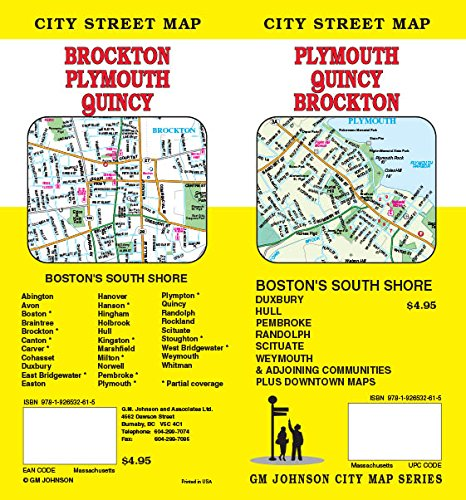Plymouth / Quincy / Brockton MA Street Map