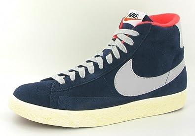 ebbfa36186 NIKE Sneaker Blazer MID PRM VNTG Suede MID Navy Size  38 EU  Amazon ...