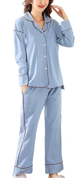 Sujisi - Traje de 2 Piezas Pijama Lactancia de Algodón para Premamá Maternidad Embarazada Ropa de
