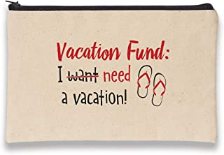 product image for Imagine Design Relatively Funny Vacation Fund: I Need, Canvas Bag, Red/Black/White