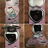 iPhone 7 Case, 3D Make Up Mirror Pink Cute Cartoon Hello Kitty Soft Silicone Gel Back Cover Case for 4.7 inches iPhone 7