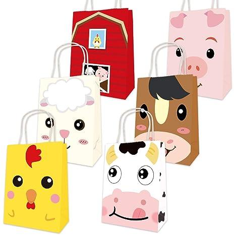 Amazon.com: Bolsas de animales de granja para fiesta de ...