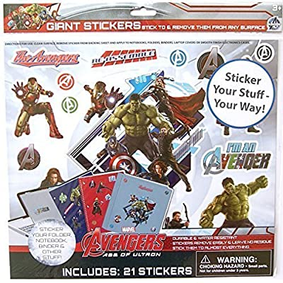 Marvel Avengers Giant Stick Anywhere Stickers - 21 count: Toys & Games